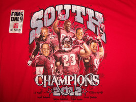 NFL Houston Texans Football South Champions 2012 Red Graphic T Shirt - L - $18.65