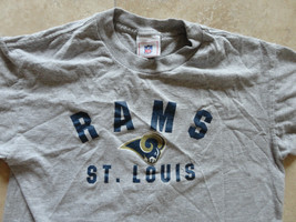 St. Louis Rams Gray Nfl Brand T Shirt  Youth 14 16 Very Nice Free Us Shipping - $18.89