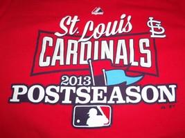 MLB St. Louis Cardinals Baseball Postseason 2013 Red Graphic Print T Shirt - L - $17.17