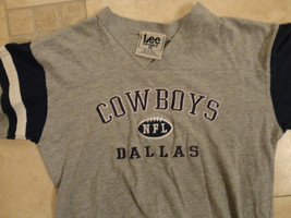 Gray Dallas Cowboys  Nfl Embroidered  Lee Sport Shirt Youth L Free Us Shipping - $23.68