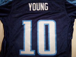 Reebok NFL Tennessee Titans Football Vince Young #10 Blue Jersey - Youth M - $18.16