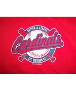 MLB St. Louis Cardinals Baseball Team Logo Red Graphic Print T Shirt L - $17.17