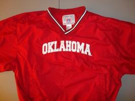 Red Genuine Stuff NCAA OU Oklahoma Sooners XL SEWN 65-35 V Neck JACKET V... - $32.51