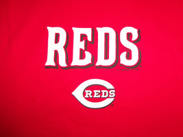 MLB Cincinnati Reds Baseball Team Red Graphic Print TShirt XL - $17.17