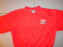 NCAA Ohio State Buckeyes Red Polyester Pullover L Jacket 2007 BCS Champi... - $27.56