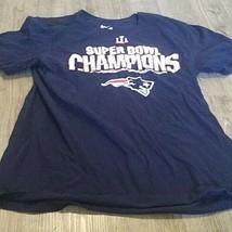 New England Patriots Shirt - Super Bowl Champions T-Shirt Large Nike - $7.92