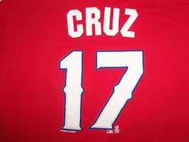 MLB Texas Rangers Baseball Team #17 Nelson Cruz Red Graphic Print T Shirt - XL - $15.98