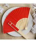 Wholesale Silk Folding Wedding Party Favor Fans Red YSefa - $131.68