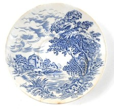 """Blue & White Countryside Wedgwood & Co England 5 3/8"""" Saucer Plate Vintage - $7.91"""