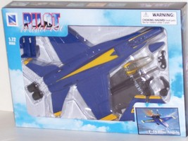 New Ray F/A 18TM Blue Angel Plastic Model Unassembled 1:72 Scale Blue Br... - $20.10