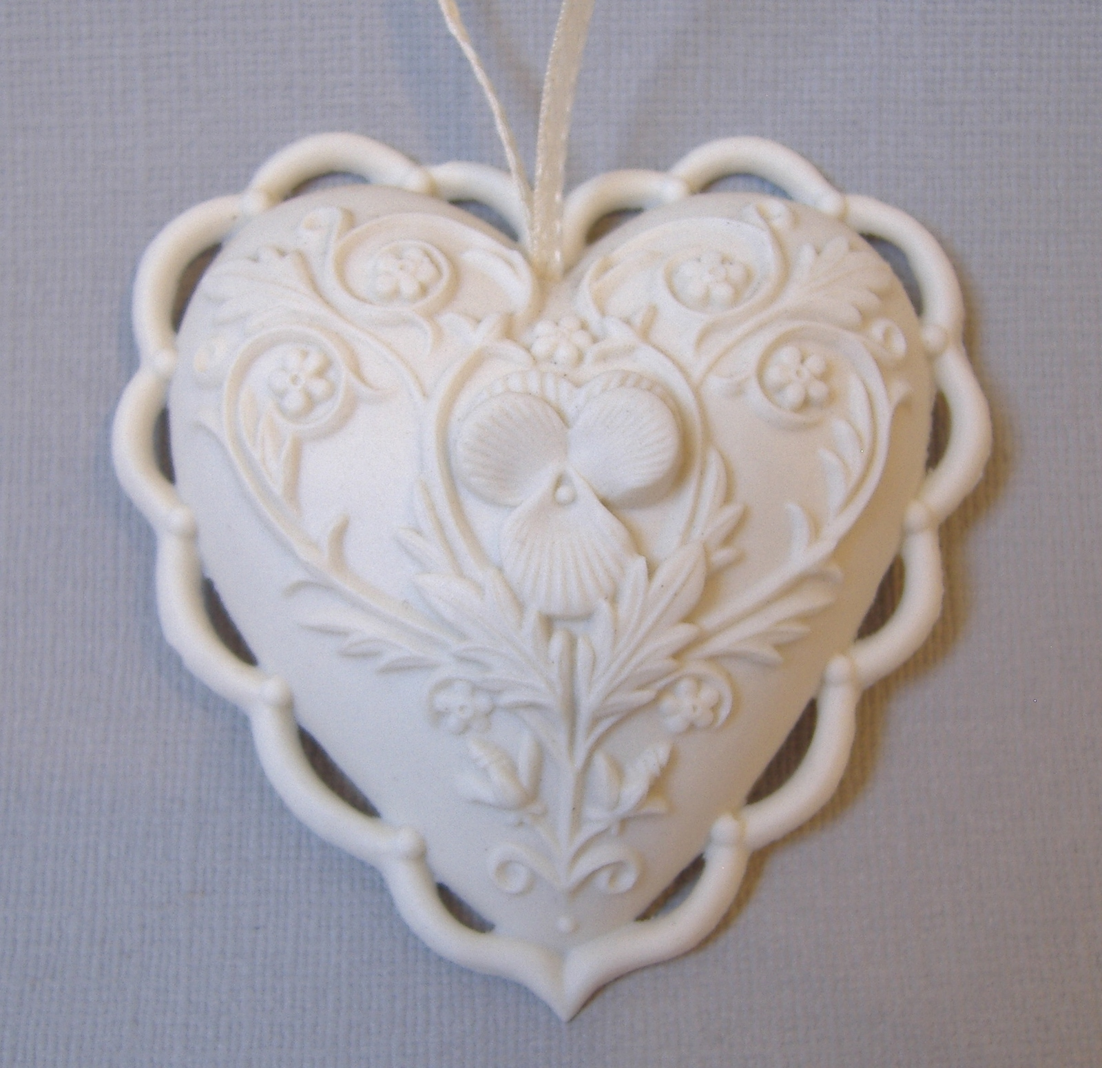 Primary image for From The Heart Margaret Furlong 1997 Ornate White Porcelain Victorian Ornament