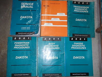2001 DODGE DAKOTA TRUCK Service Repair Shop Manual Set OEM W RECALLS & DIAGNOS