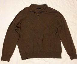 Cambridge Classics Brown Lightweight Sweater, 1/2 Zip, Men's Size XL, Ve... - $9.49