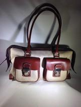 Dooney & Bourke Beige Signature Canvas & Leather Satchel Bag - $56.09