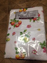 "NIP Home Trends Fruit & Floral White Vinyl Flannel-Back Tablecloth 52"" x... - €11,93 EUR"