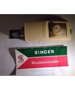Singer Sewing Machine Buttonhole Attachment-Original Green Plastic Box-B... - $19.79