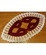 Heart To Heart Crochet Lace Oval - Romance Deco... - $22.50
