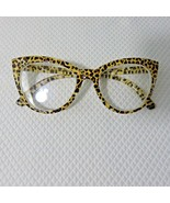 New Betsey Johnson +2.50 Cat Eye Reading Glasses Leopard Frame Pinup Retro - $37.09