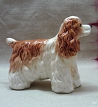 Vintage Lefton China Hand Painted Brown & White Long Haired Spaniel Dog ... - $14.00