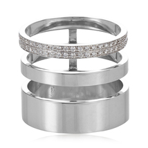14k White Gold Plated 925 Silver Repossi Berbere Module Cage Ring & Free... - $99.99