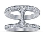 14k White Gold Over 925 Silver Hoorsenbuhs Dame Phantom Ii Ring & Free Shipping - €51,83 EUR