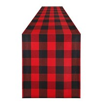 Syntus 14 x 108 inch Buffalo Check Table Runner Cotton-Polyester Blend H... - $14.98