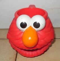 Vintage Sesame Street Live Elmo Cup Mup rare oop Jim Henson Muppets - $18.70