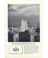 1940 AGFA Plenachrome Film city building shot print ad - $10.00