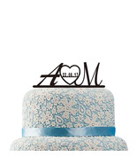 Buythrow® Initials Wedding Cake Topper Custom Name Date Personalized - $23.77
