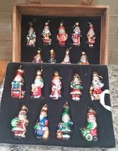 Thomas Pacconi Classics 2002 Box Crate International Santa Ornaments COA - $35.00