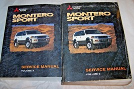 1998 Mitsubishi Montero Sport Shop Service Repair Manual used original 4 books - $148.49