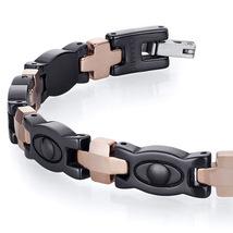 Men's Tungsten Ceramic Copper Tone Eyeball Link Bracelet image 2
