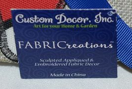 FabriCreations 2355 God Bless America Red White Blue Star Round Fabric Decor image 5