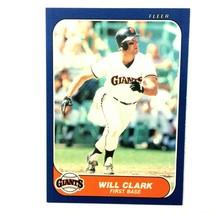 Will Clark 1986 Fleer Update Rookie Card #U-25 MLB San Francisco Giants - $2.92