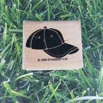 Stampin' Up! Basic Hat Cap Clothing Accessories Rubber Stamp 1998 Wooden  - $8.41