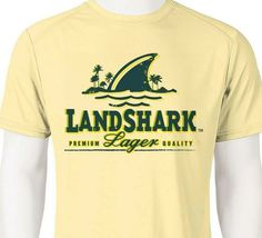 Landshark Dri Fit graphic T-shirt moisture wicking beach beer fishing SPF tee image 3