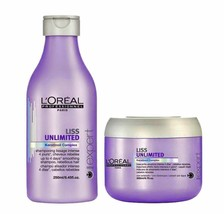 Original L'Oreal Professional Liss Unlimited Shampoo 250 ml with Masque 196gm Fs - $57.77