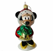 Minnie Mouse Christmas ornament vtg Walt Disney holiday caroler jingle b... - $19.25
