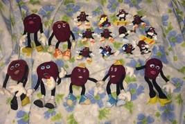 VTG LOT 19 California Raisins PVC Toy Figures Poseable Plush Dolls 1980's - $59.80