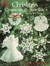 17 Crochet Thread Snowflakes Ornaments Angels Bells Tree Mary Thomas Pat... - $13.99