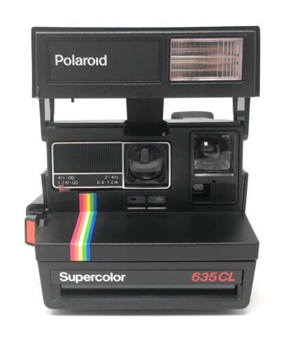 Polaroid Supercolor 635CL Instant 600 Film Camera 1980s Fully Operational