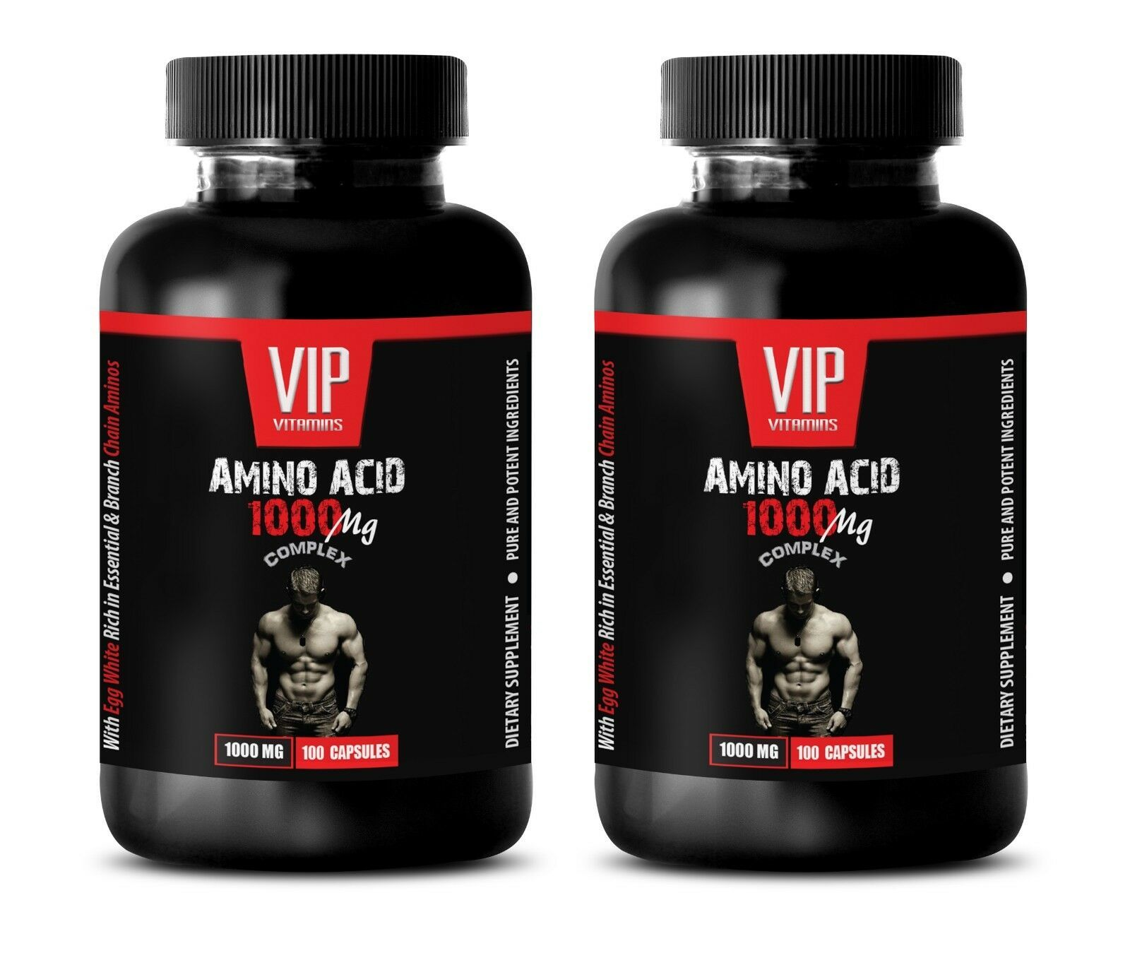 amino acids bcaa - AMINO ACID 1000mg - muscle recovery supplement 2 Bottles - $29.88