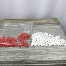 Battleship 95 Red And 203 White Short Pegs Pieces - $4.90
