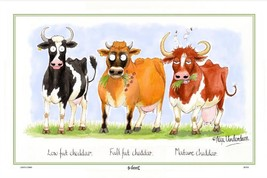 Samuel Lamont UK Cheddar Cows Comical Linen Union Kitchen Tea Towel - $17.99