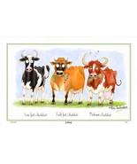 Samuel Lamont UK Cheddar Cows Comical Linen Union Kitchen Tea Towel - $17.99