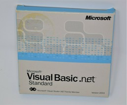 Microsoft Visual Basic.net Standard Edition 2003 includes MSDN discs - $29.70