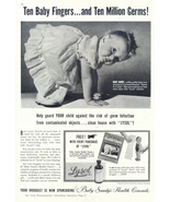 1943 Lysol Disinfectant Million Dollar Baby Sandy ad - $10.00