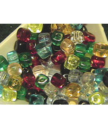 5mm Cube Czech Glass Beads 100 Mixed Colors - $5.00