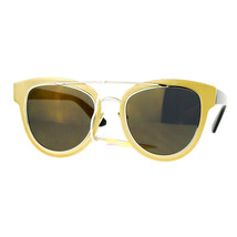 Fashion Sunglasses Womens Retro Horn Rim Flat Frame Eyewear - $11.65