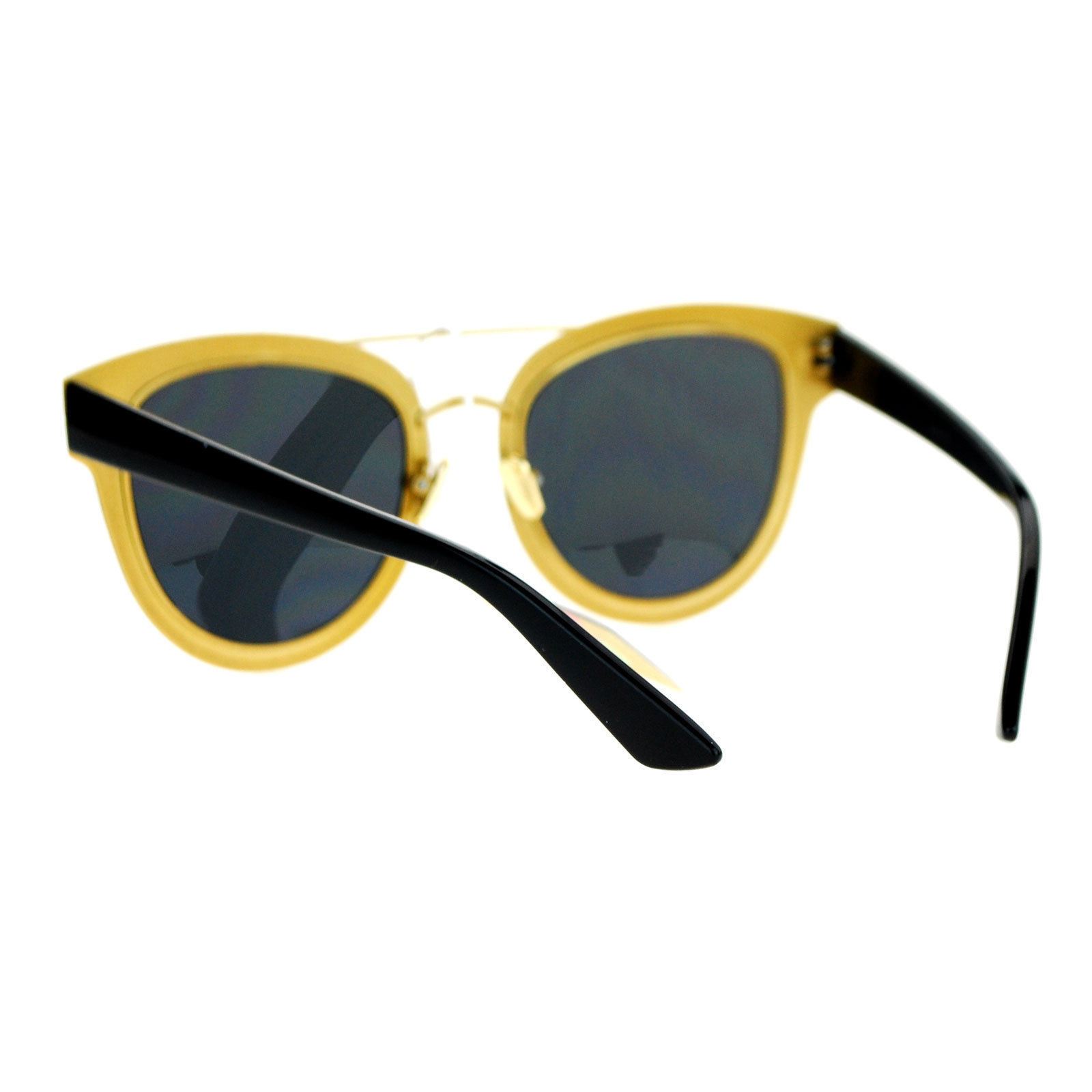 Fashion Sunglasses Womens Retro Horn Rim Flat Frame Eyewear